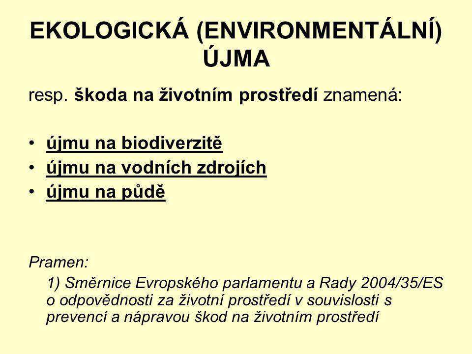 EKOLOGICKÁ (ENVIRONMENTÁLNÍ) ÚJMA resp.