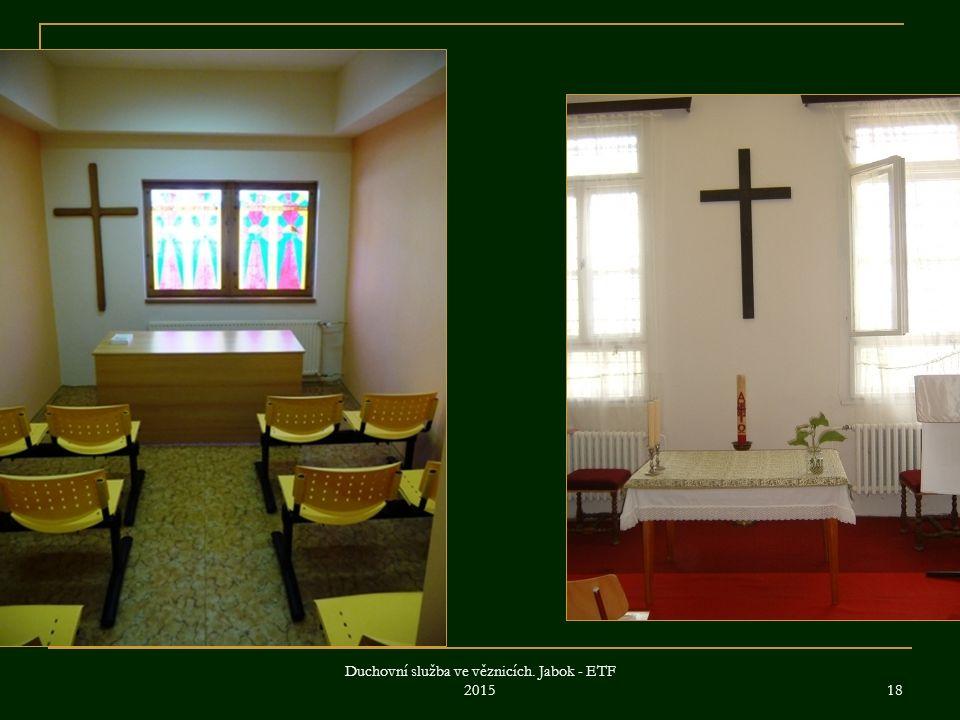Duchovní služba ve věznicích. Jabok - ETF 2015 18