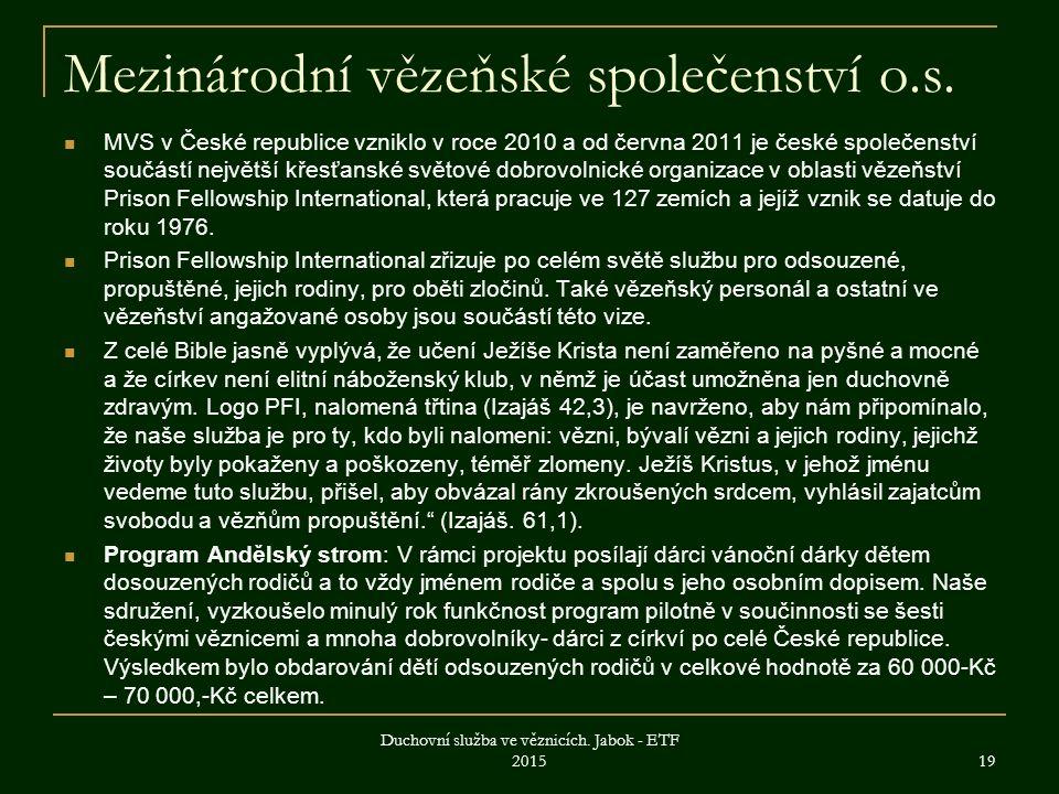Mezinárodní vězeňské společenství o.s.