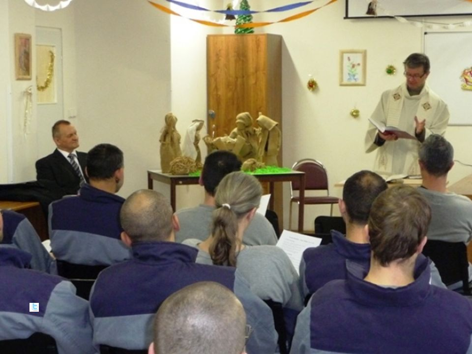 Pojetí kurzu Cíl: seznámit se s realitou duchovenské péče ve věznicích (legislativa, koncepty, organizace, náplň práce, základní témata), být schopen zapojit se jako dobrovolník do spolupráce s vězeňským kaplanem Metody: Přednášky a diskuse, pozvání hostů do výuky (bývalý vězeň, hlavní kaplan), exkurze ve věznici Požadavky k absolvování: Účast ve výuce (alespoň 6 hodin z 8) a na exkurzi, seminární práce na téma Smysl duchovní služby ve věznicích (2 – 3 NS), test.