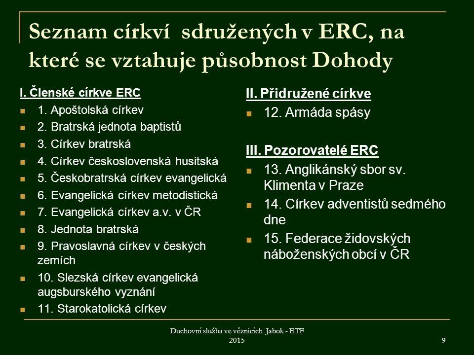 SLUŽEBNÝ KODEX EKUMENICKÉ SPOLUPRÁCE 2.
