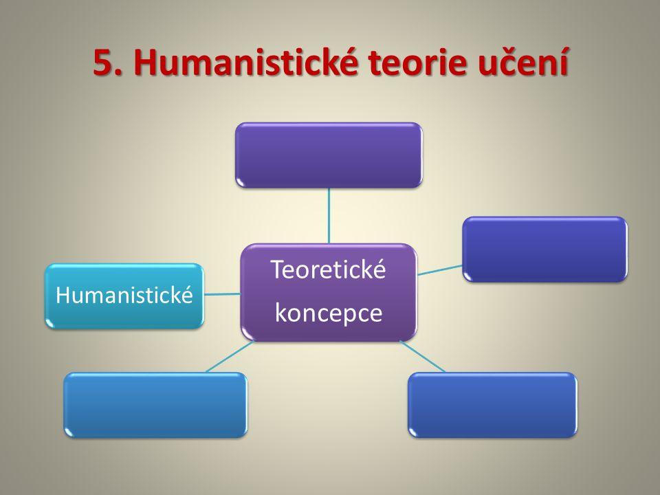 5. Humanistické teorie učení Teoretické koncepce Humanistické