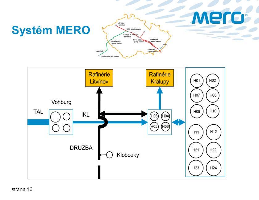 strana 16 Systém MERO