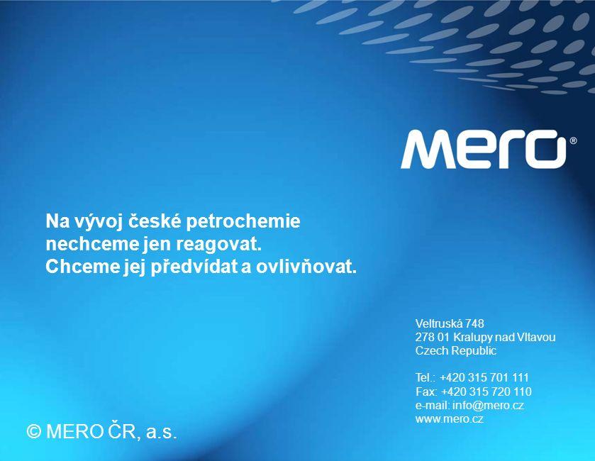 strana 21 Veltruská 748 278 01 Kralupy nad Vltavou Czech Republic Tel.: +420 315 701 111 Fax: +420 315 720 110 e-mail: info@mero.cz www.mero.cz © MERO ČR, a.s.
