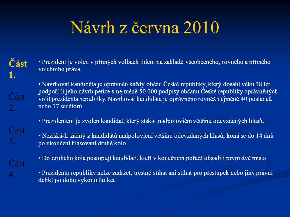 Návrh z června 2010 Část 1. Část 2. Část 3. Část 4.