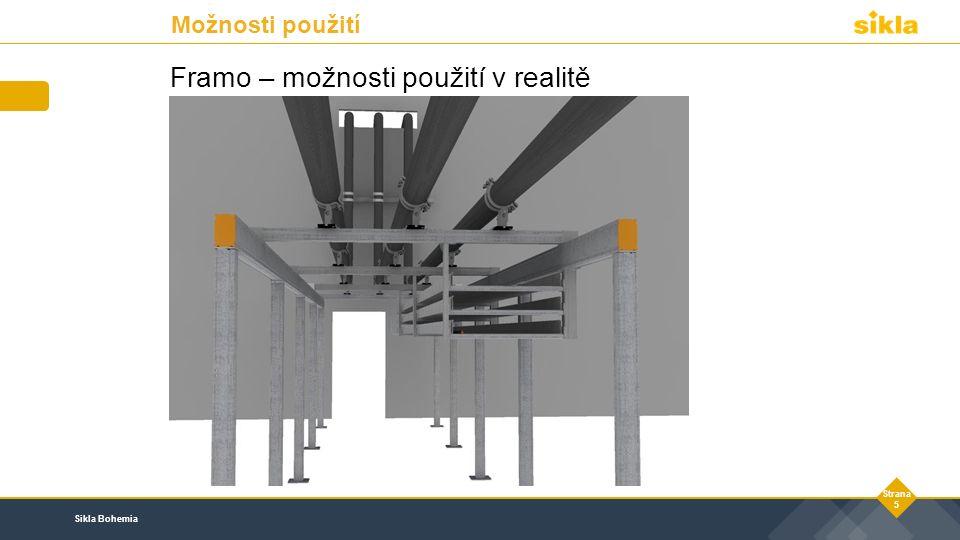 Sikla Bohemia Strana 5 Framo – možnosti použití v realitě Možnosti použití