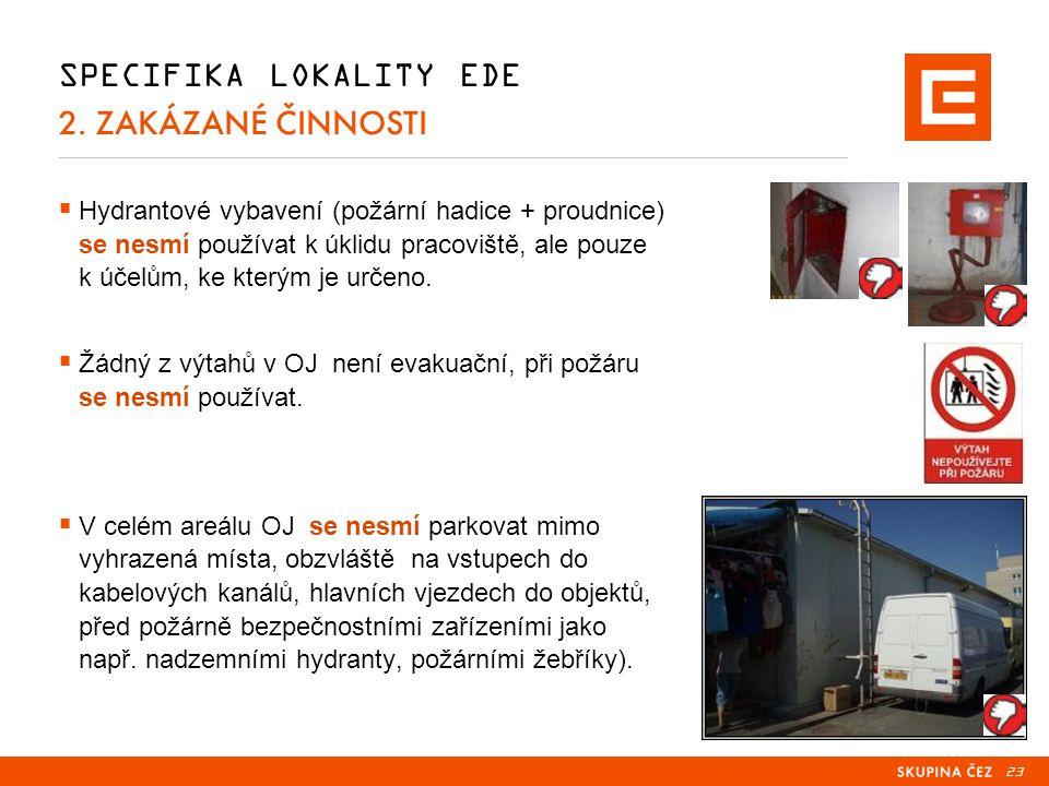23 SPECIFIKA LOKALITY EDE 2.