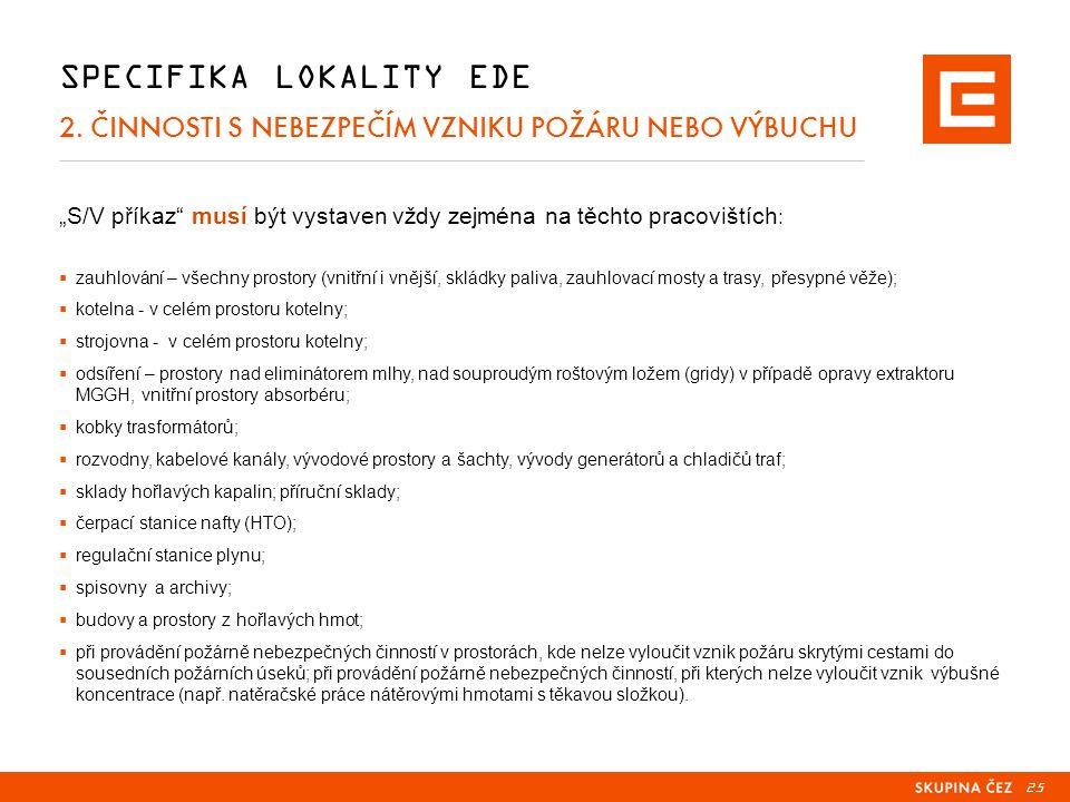25 SPECIFIKA LOKALITY EDE 2.
