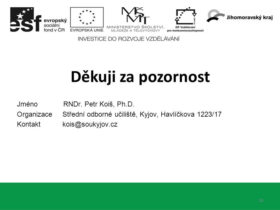 Jméno RNDr. Petr Koiš, Ph.D.