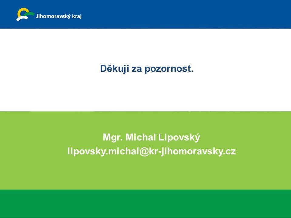 Děkuji za pozornost. Mgr. Michal Lipovský lipovsky.michal@kr-jihomoravsky.cz