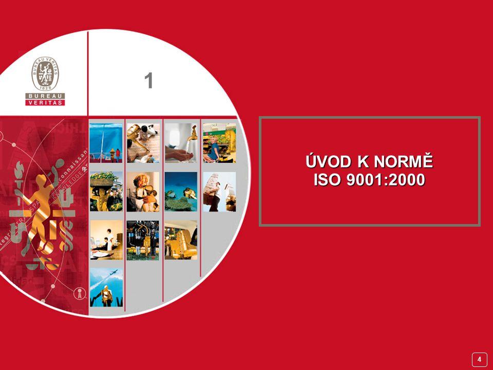 3 Školení manažerů QMS PROGRAM KURZU Organizační záležitosti 1.Úvod k normě ISO 9001:2000 2.Implementace systému managementu jakosti 3.Norma ISO 9001:2000 Definice Struktura Slučitelnost s jinými manažerskými systémy PožadavkyTest