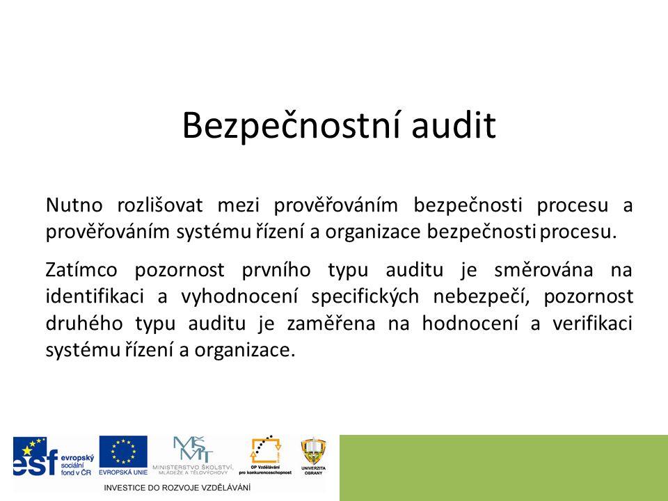 Kontrolní záznamy Metoda užívá záznamy položek či kroků, dle nichž se ověřuje stav provozu.