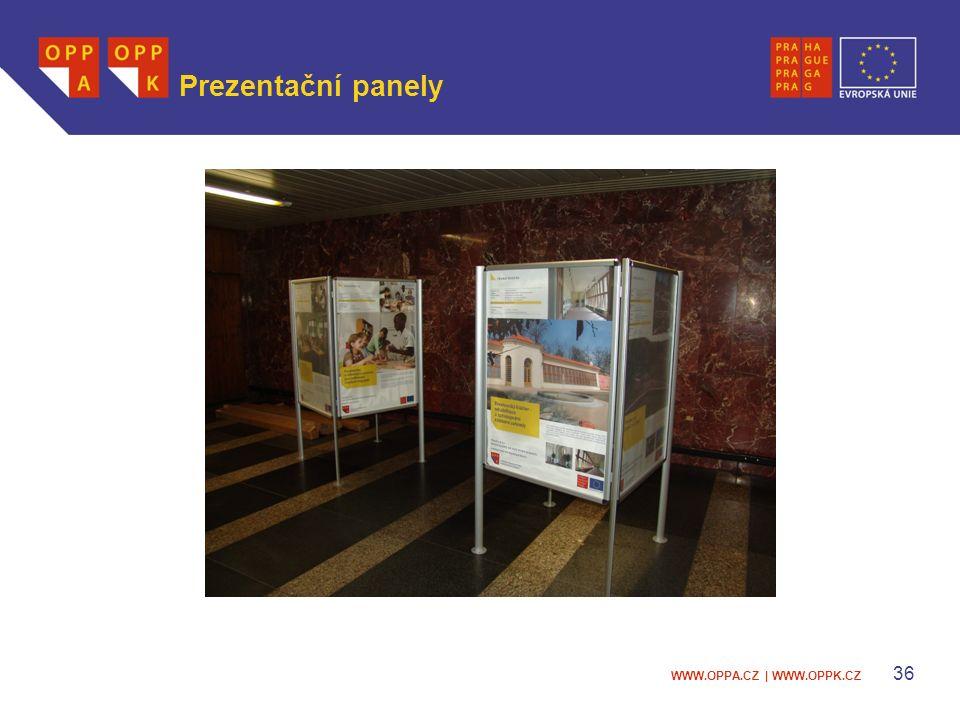 WWW.OPPA.CZ | WWW.OPPK.CZ 36 Prezentační panely
