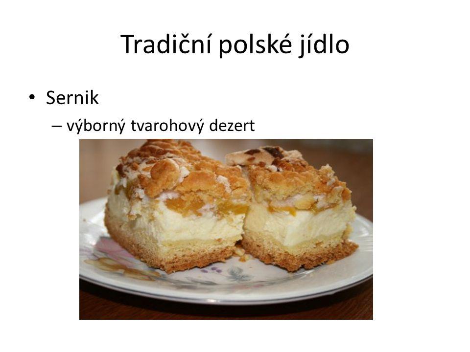Tradiční polské jídlo Sernik – výborný tvarohový dezert