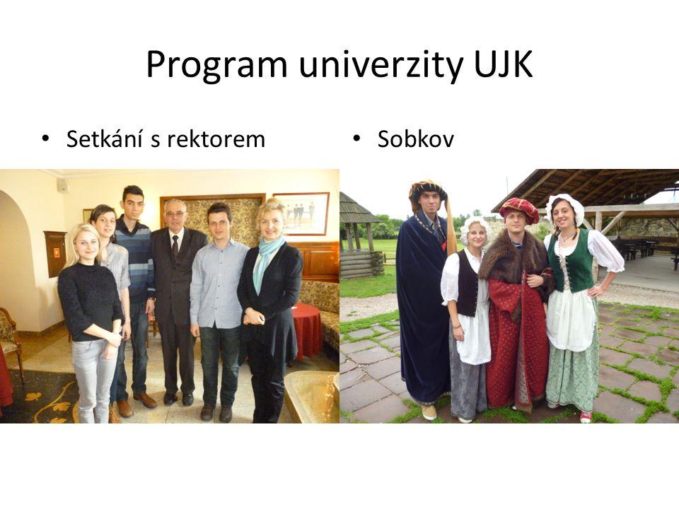 Program univerzity UJK Setkání s rektorem Sobkov