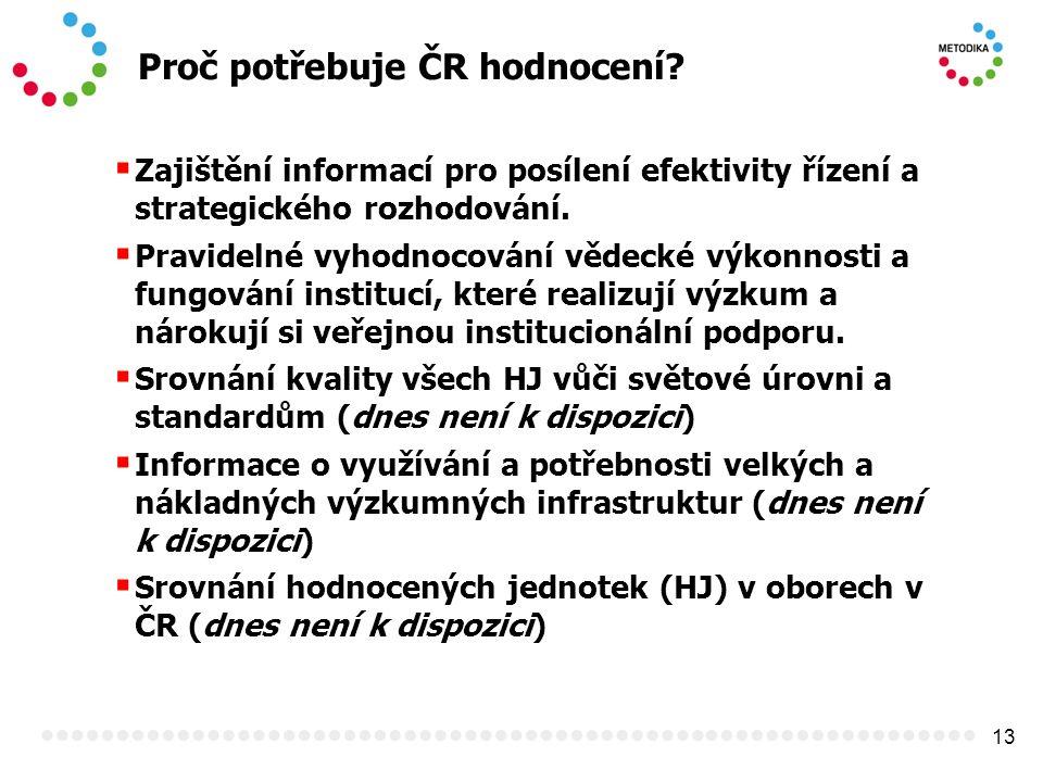 13 Proč potřebuje ČR hodnocení.