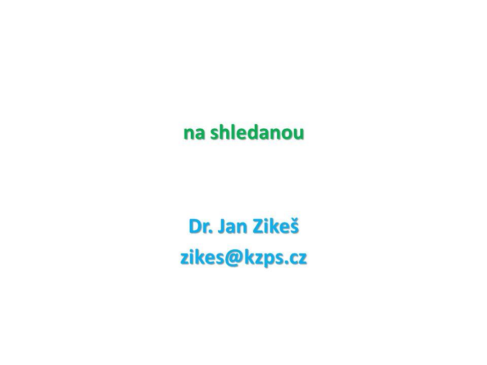 na shledanou Dr. Jan Zikeš zikes@kzps.cz