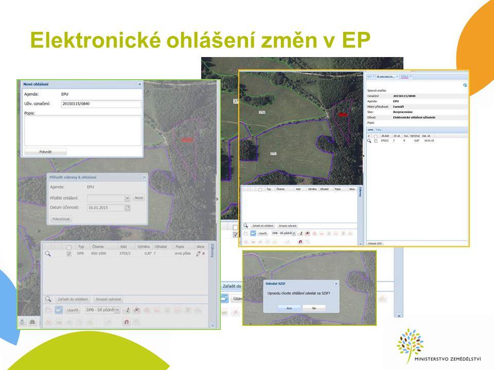 Elektronické ohlášení změn v EP