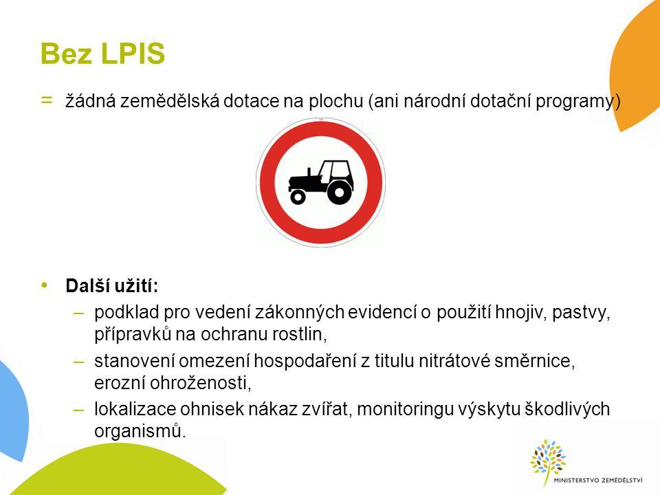 Obsah LPIS Podkladová data –Ortofoto od r.2002 –Katastr (vč.