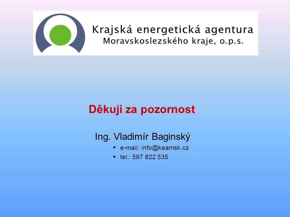 Děkuji za pozornost Ing. Vladimír Baginský  e-mail: info@keamsk.cz  tel.: 597 822 535