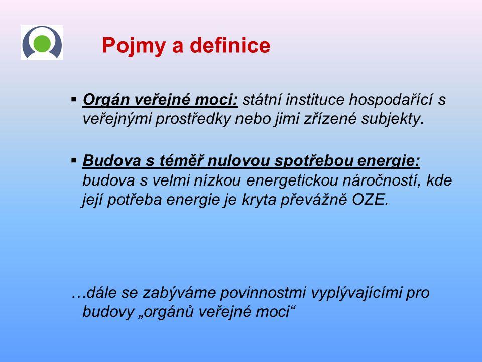 Pojmy a definice  Orgán veřejné moci: státní instituce hospodařící s veřejnými prostředky nebo jimi zřízené subjekty.