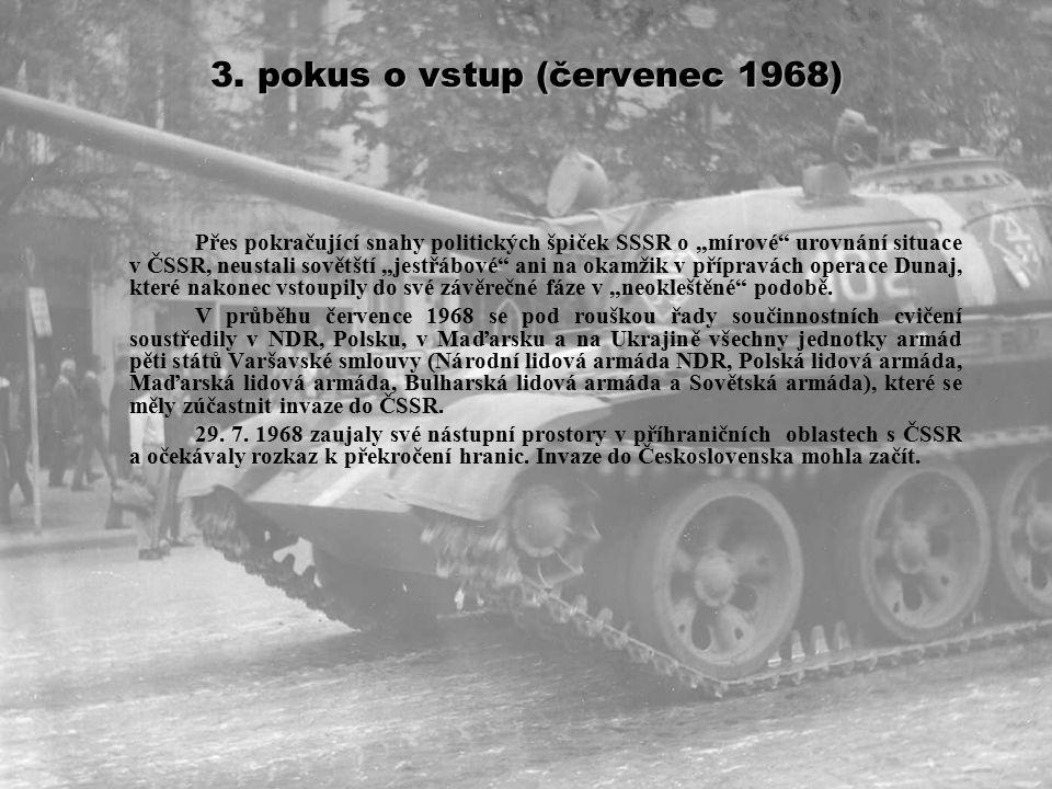 2.pokus o vstup – cvičení Šumava (duben – srpen 1968) Jednání o cvičení Šumava (oficiálně 20.