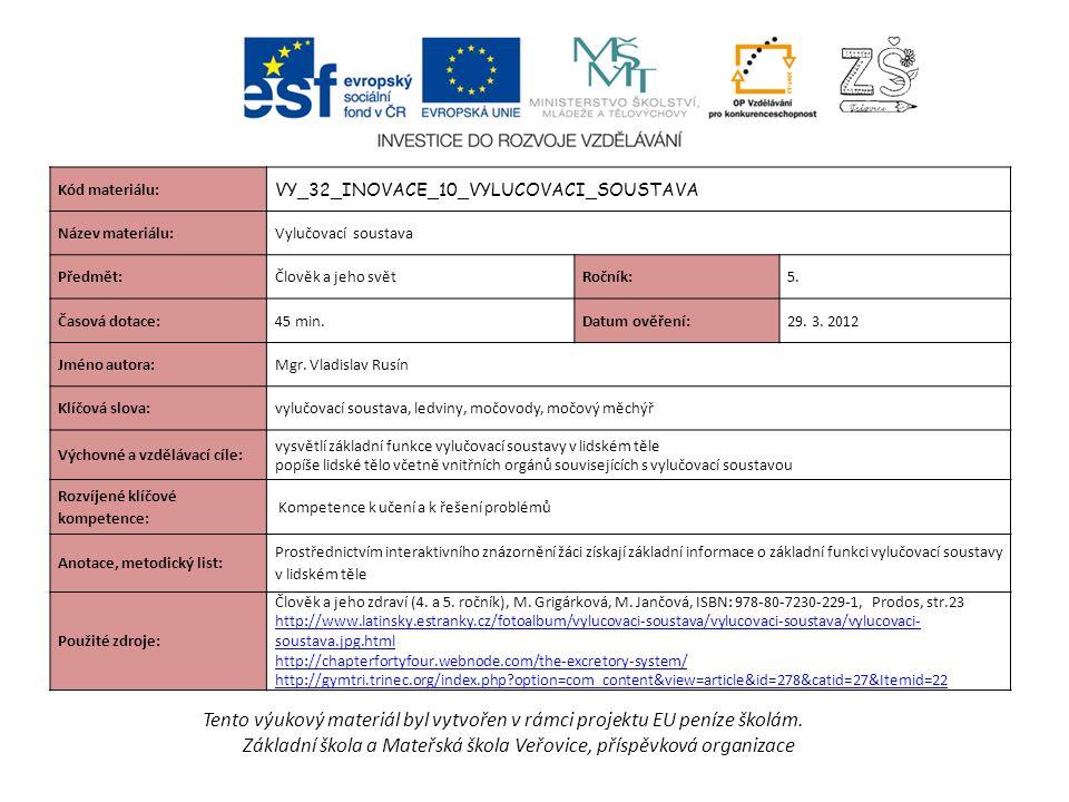 Tento výukový materiál byl vytvořen v rámci projektu EU peníze školám.