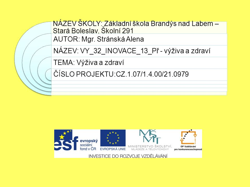 NÁZEV ŠKOLY: Základní škola Brandýs nad Labem – Stará Boleslav, Školní 291 AUTOR: Mgr.