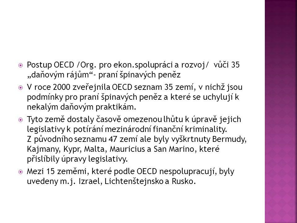 Postup OECD /Org.