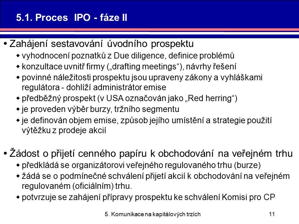 5. Komunikace na kapitálových trzích11 5.1.