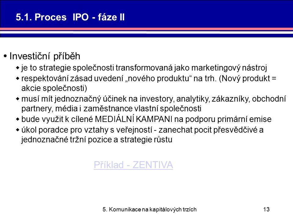 5. Komunikace na kapitálových trzích13 5.1.