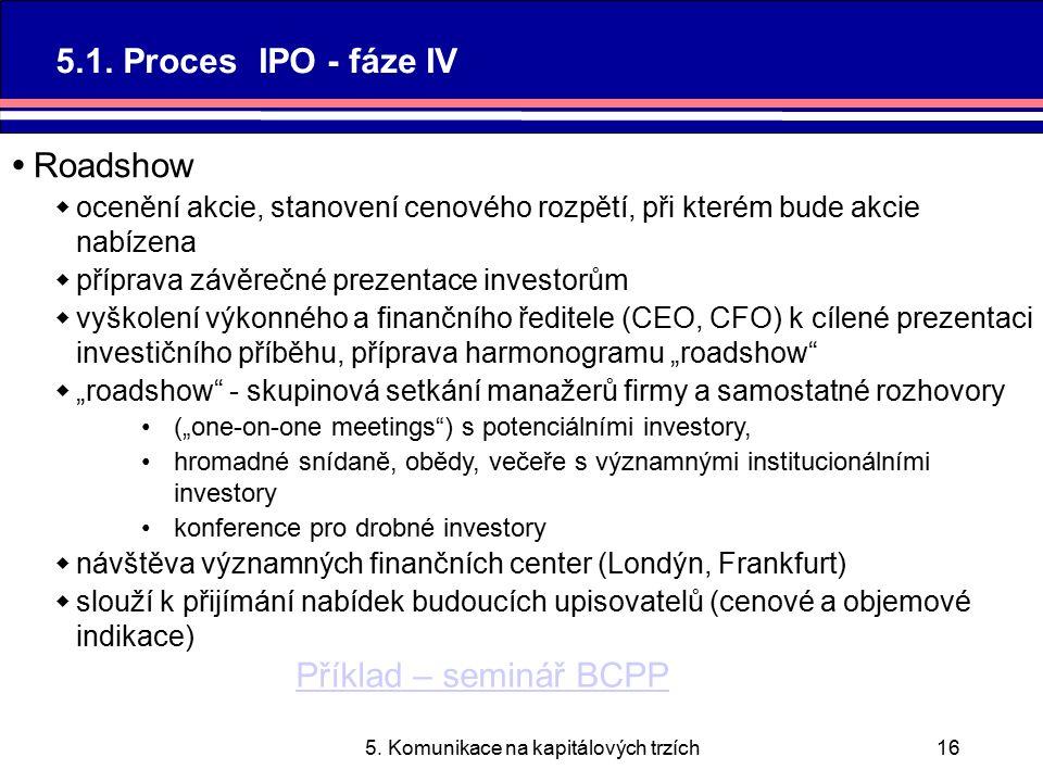 5. Komunikace na kapitálových trzích16 5.1.