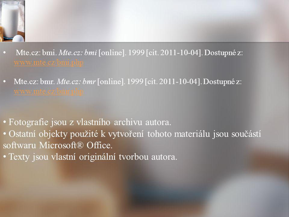 Mte.cz: bmi. Mte.cz: bmi [online]. 1999 [cit. 2011-10-04].