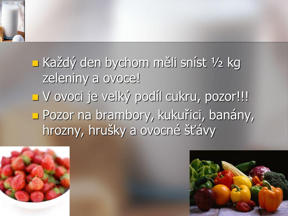 Každý den bychom měli sníst ½ kg zeleniny a ovoce.