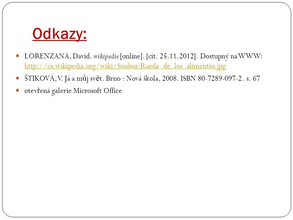 Odkazy: LORENZANA, David. wikipedie [online]. [cit.