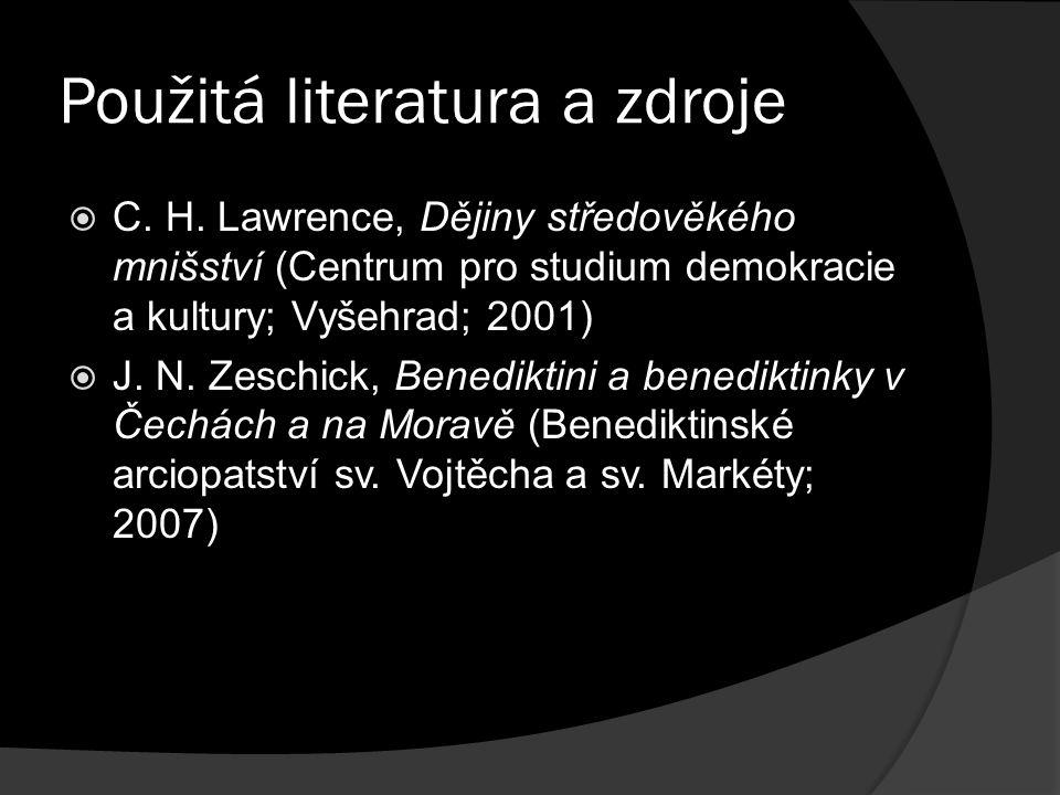 Použitá literatura a zdroje  C. H.