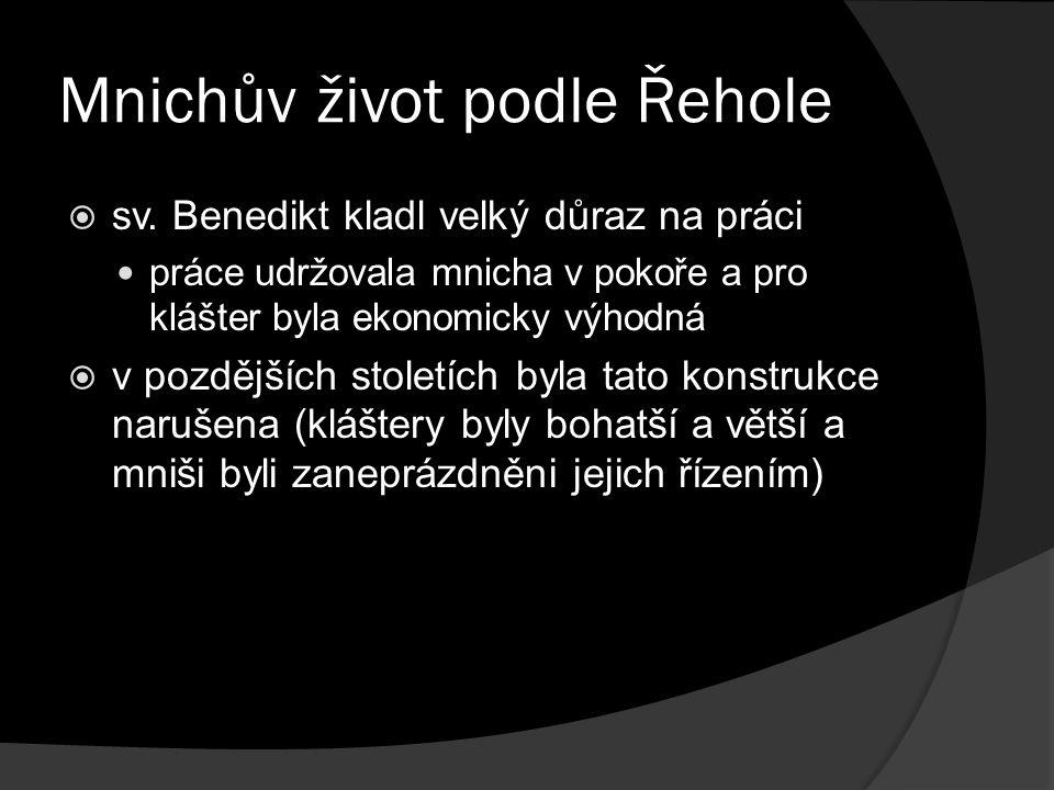 Mnichův život podle Řehole  sv.