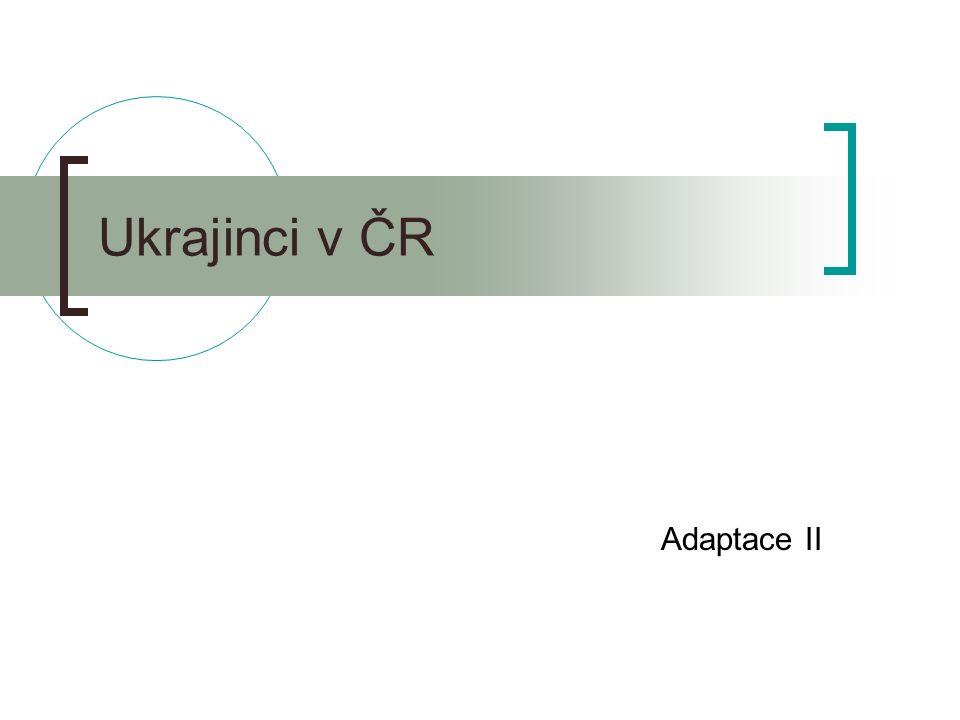 Ukrajinci v ČR Adaptace II