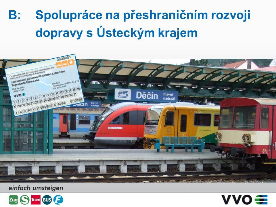 B:Spolupráce na přeshraničním rozvoji dopravy s Ústeckým krajem jednoduše přestupovat