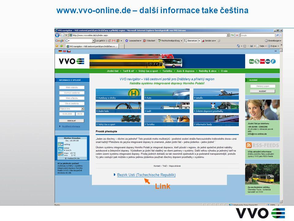 www.vvo-online.de – další informace take čeština Link