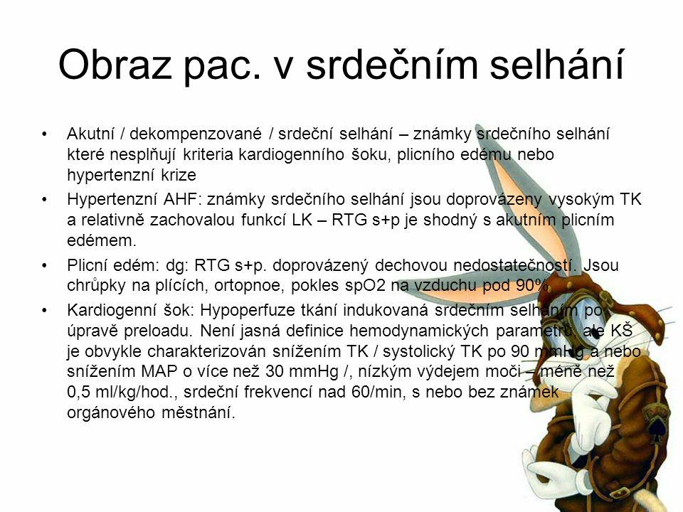 Levosimendan II Dochází k na dávce závislém vzestupu CO, SV, poklesu PCWP, systémové a plicní vaskulární rezistence a nepatrnému vzestupu HR a poklesu TK Tachykardie a hypotenze jsou popisovány při vysoké dávce a použití není doporučeno u pac.
