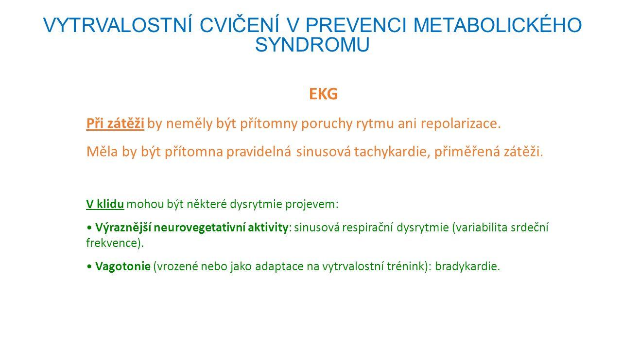 Horní – bezpečnostní limit intenzity vytrvalostní zátěže VYTRVALOSTNÍ CVIČENÍ V PREVENCI METABOLICKÉHO SYNDROMU Do intenzity způsobující OXIDAČNÍ STRES a IMUNOSUPRESI Vztah oxidačního stresu a svalové práce (tělesné zátěže) Vysoce intenzivní zátěž (nad anaerobním prahem, nad 70% VO 2 max) → ↑ produkce + kumulace radikálů → poškození struktur a funkcí  imunitního sytému - bílých krvinek (neutrofily, fagocyty, lymfocyty)  kosterních svalů  … .