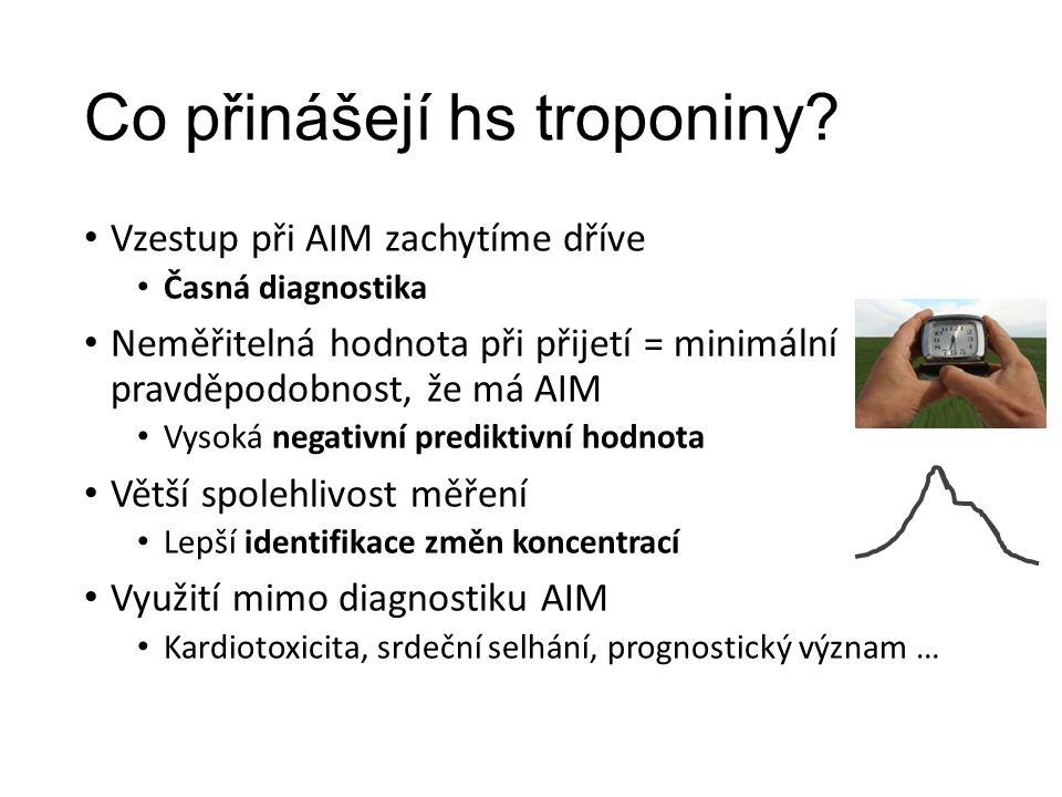 Co přinášejí hs troponiny.