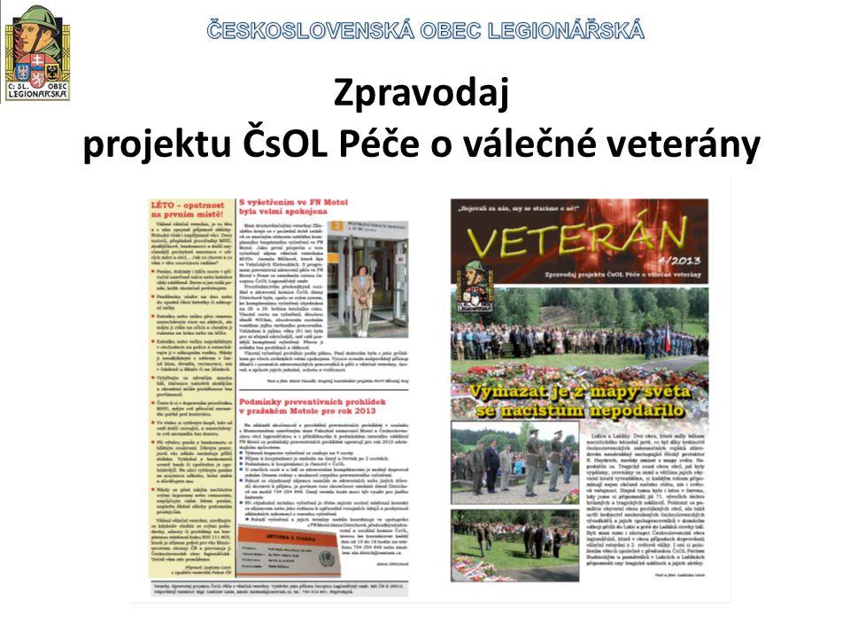 Zpravodaj projektu ČsOL Péče o válečné veterány
