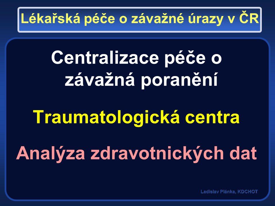 Data z TC Data z ÚRČR Zpětná vazba Národní registr úrazů MZ ČR