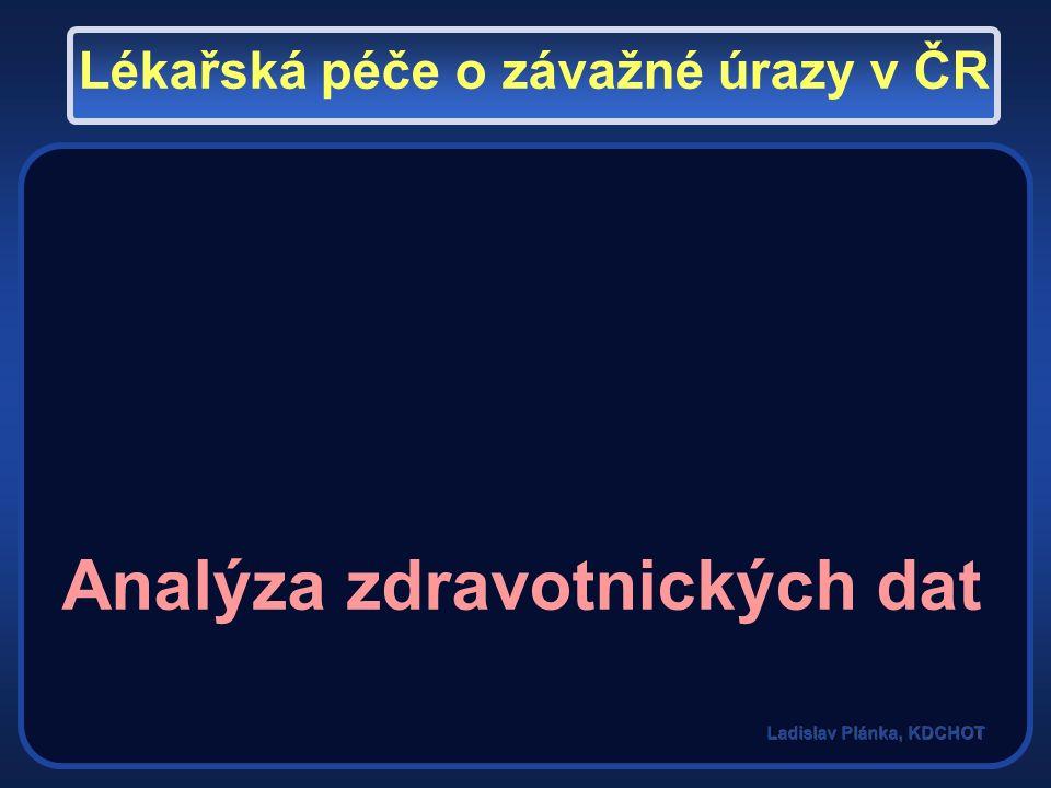 Centralizace péče o závažná poranění Traumatologická centra Analýza zdravotnických dat Lékařská péče o závažné úrazy v ČR