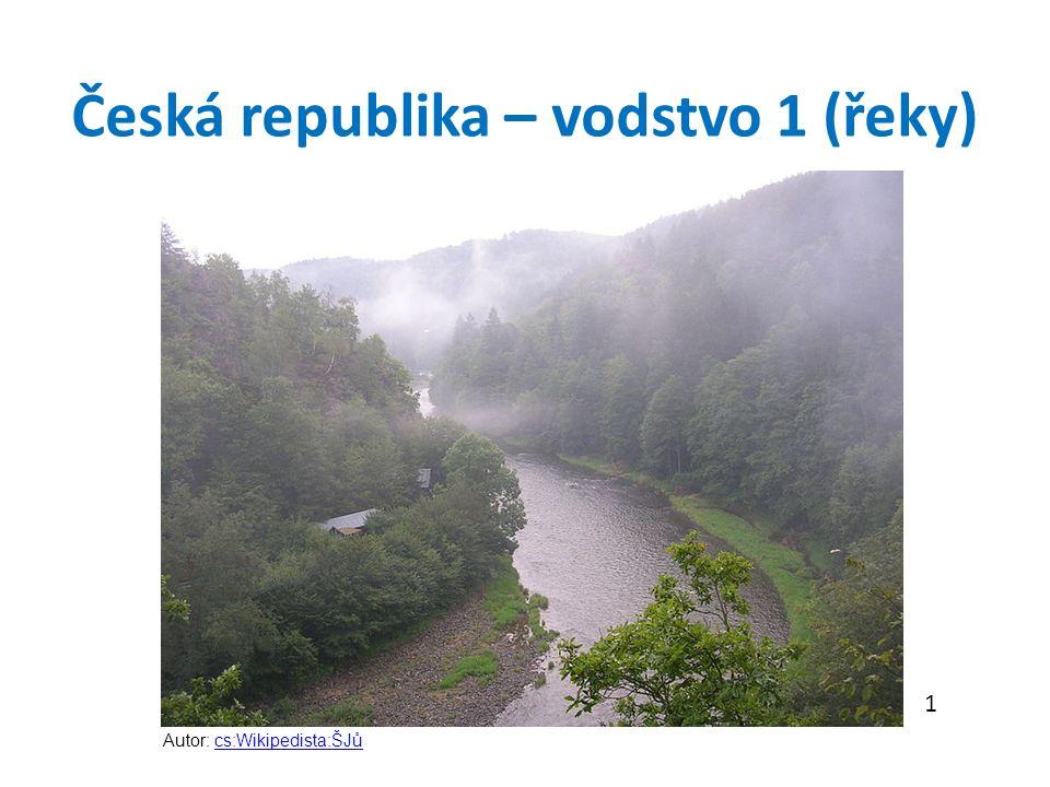 Česká republika – vodstvo 1 (řeky) 1 Autor: cs:Wikipedista:ŠJůcs:Wikipedista:ŠJů