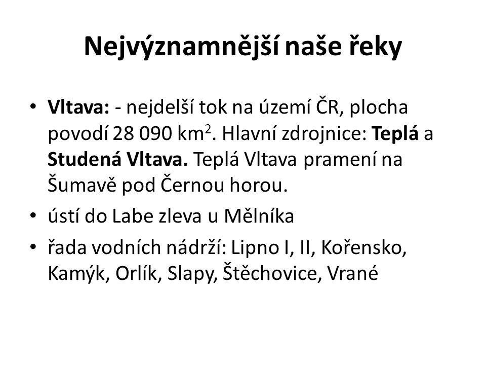 Vodácky zajímavá část Vltavy