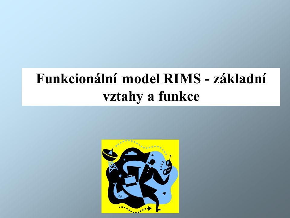 Funkcionální model RIMS - základní vztahy a funkce