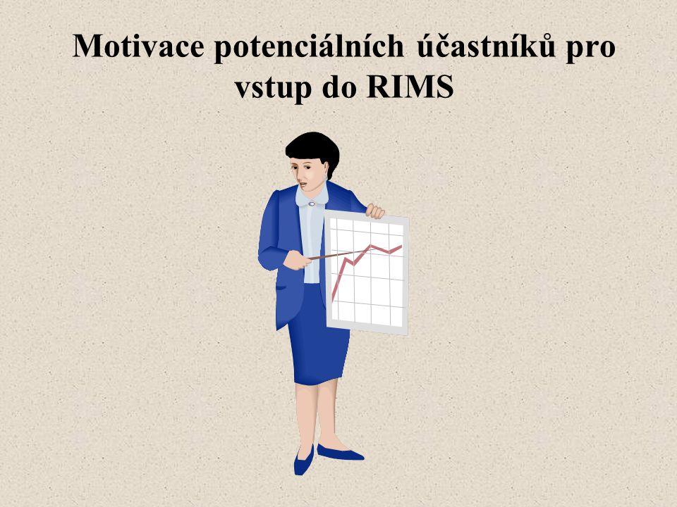 Motivace potenciálních účastníků pro vstup do RIMS